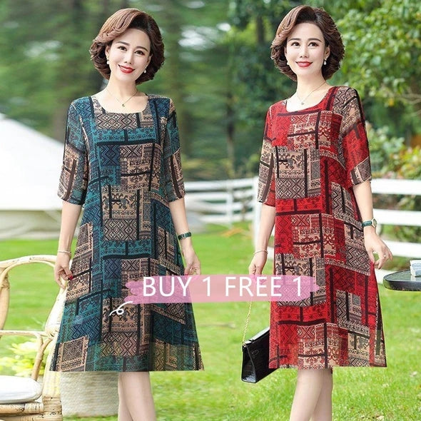 【Buy 1 free 1】2020 Japanese Style Cotton Embroidered Dress