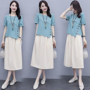【Buy 1 free 1】2020 New Korean style cotton and linen fashion suit