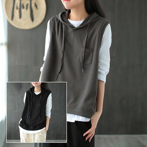 【Buy 1 Free 1】Casual All-match Cotton Hooded Vest