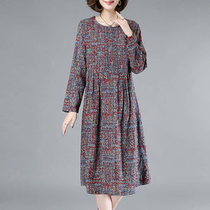【50% OFF】Long Sleeve Floral Cotton Dress