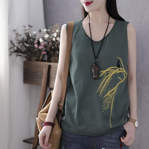Buy1 Free1◀Sleeveless Natural Cotton T-shirt