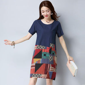 50%OFF♥ Japanese cotton and linen plus size A-line skirt