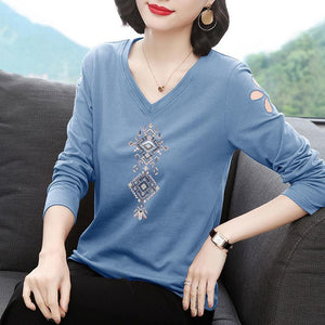 【Buy 1 Free 1】Natural cotton Exquisite printing T-shirt▶50%OFF◀