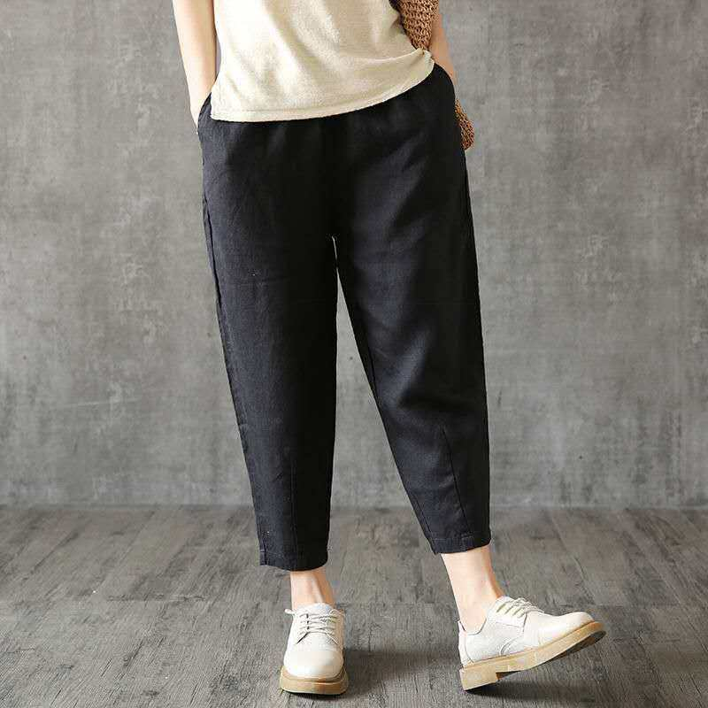 【Buy 1 Free 1】Loose Cotton And Linen Casual Pants