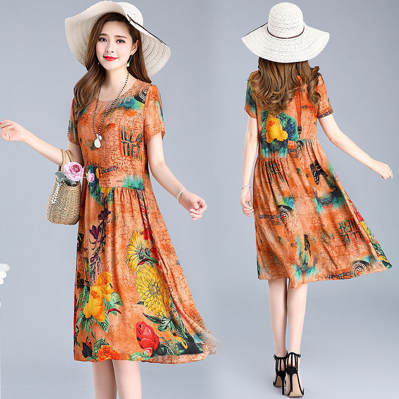 【Buy 1 free 1】Loose plus size floral dress
