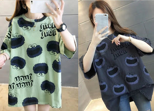 【BUY 1 FREE 1】Korean fashionable cartoon T-shirt(40-150KG)