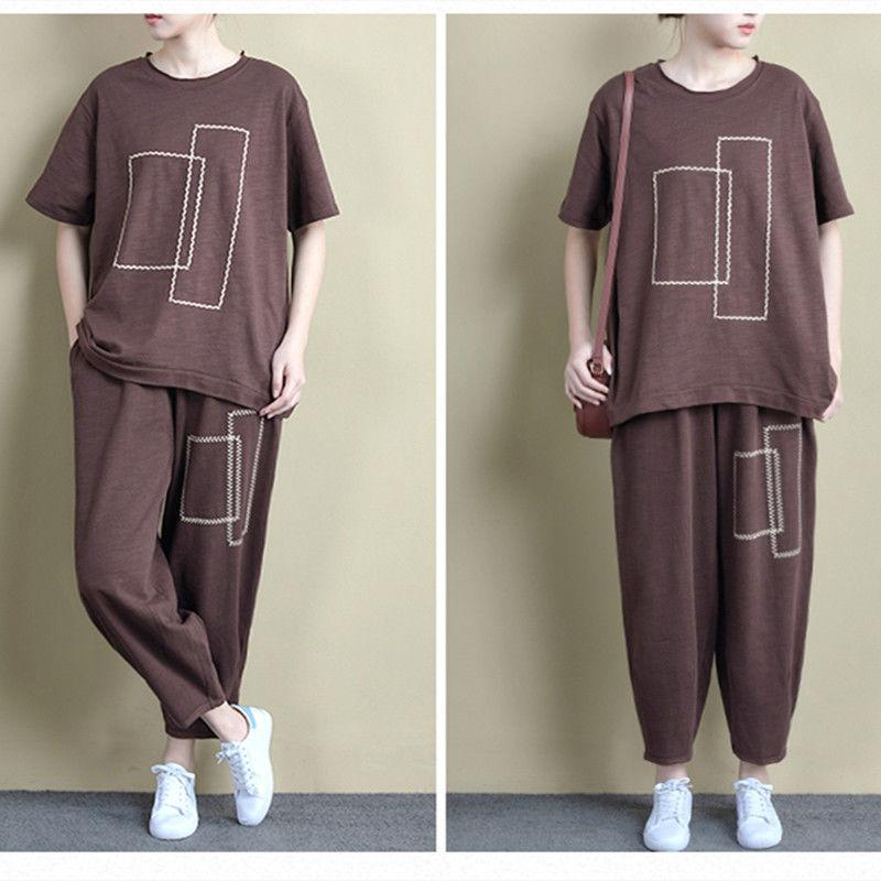 【50% OFF】Japanese style cotton leisure sports suit