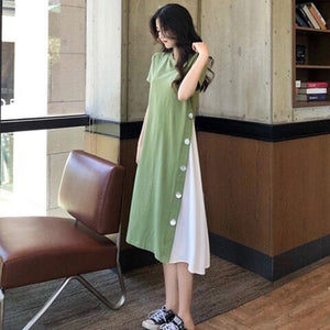 【50% OFF】New Loose-Knee Stitching Dress
