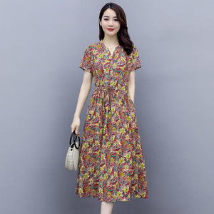 【Buy 1 Free 1】New Korean Chiffon Floral Dress