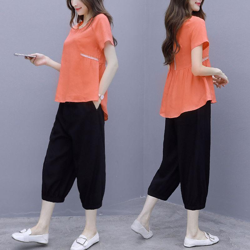 【50% OFF】2020 new Japanese fashion casual loose suit (TOP and pants 2-pcs)
