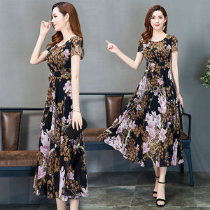 【Buy 1 Free 1】Korean Retro Temperament Chiffon Dress