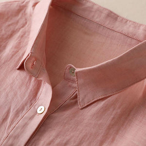 【50% OFF】2020 new loose fashion cotton linen lantern sleeve shirt