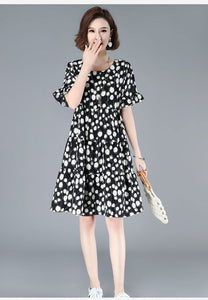 50% OFF 🌹🚀2020 NEW 🔥🌈Japanese style 🍀🍀Polka dot chiffon plus size dress🌹