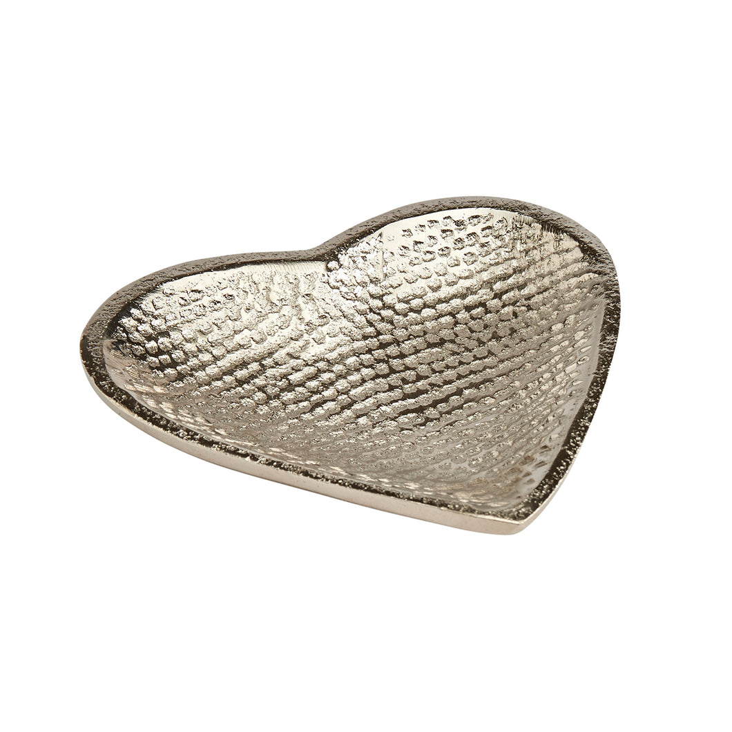 Small Aluminium Hammered Heart Dish