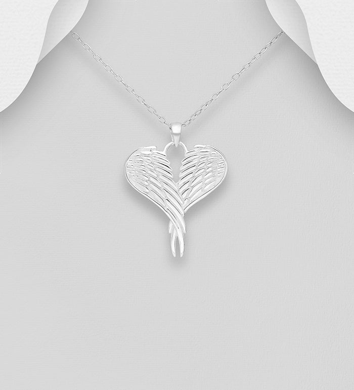 Large Angel Wing Heart