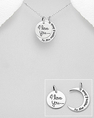 Double Pendant - I love You To The Moon