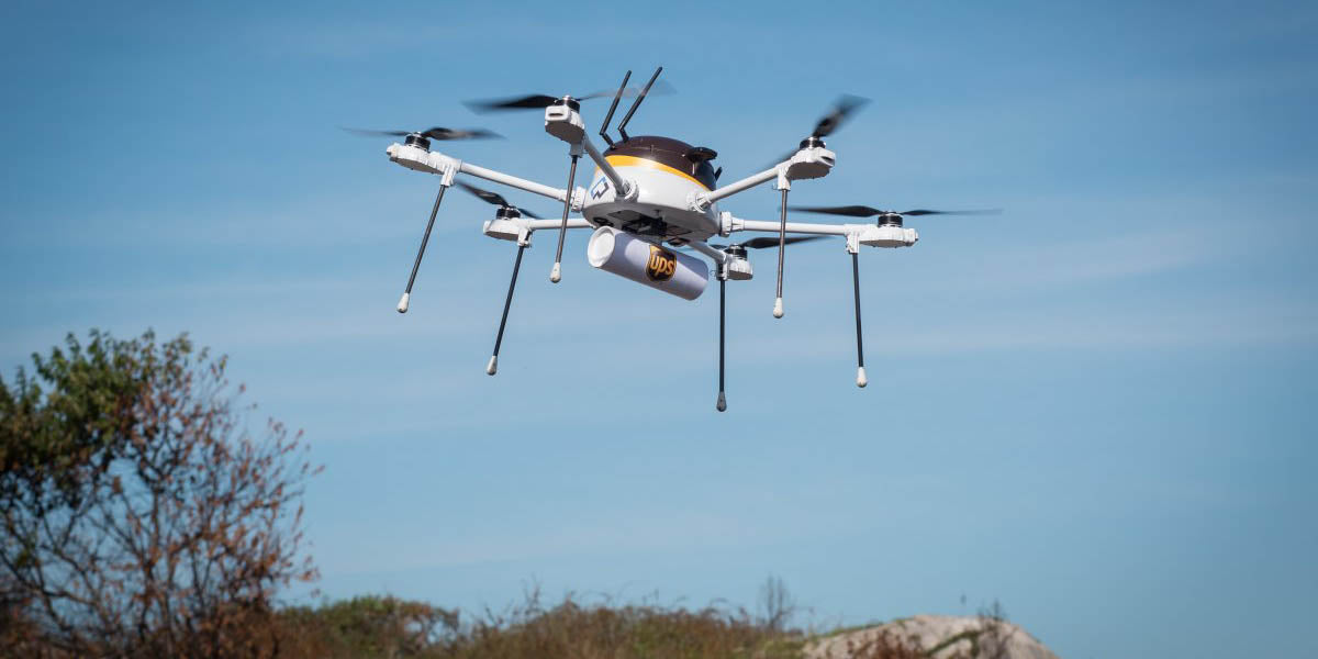 cyphy works and UPS drone test flight
