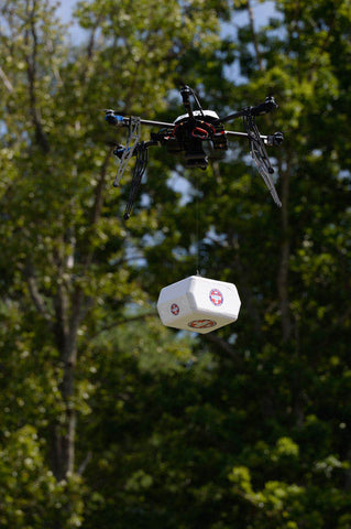 Flirtey drone payload delivery in Virginia