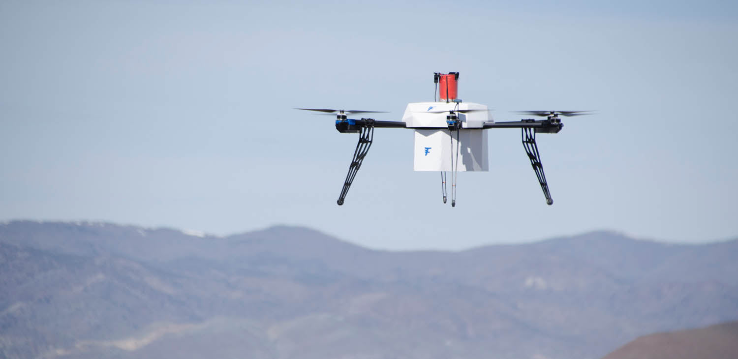 Flirtey ship-to-shore drone delivery