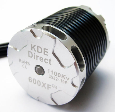 KDE600XF-1100-G3 Brushless Motor for 550/600/650-Class Electric Single-Rotor Series