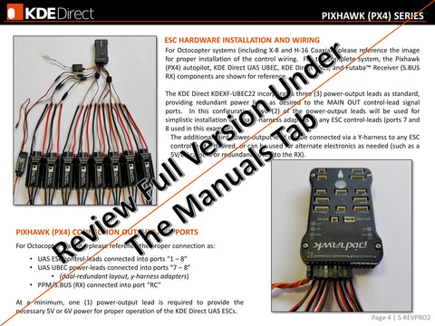 KDE-UAS75HVC 75A+HV Electronic Speed Controller (ESC) for Electric Multi-Rotor (UAS) Series