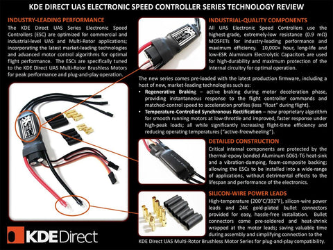 KDEXF-UAS55 55A+ Electronic Speed Controller (ESC) for Electric Multi-Rotor (UAS) Series