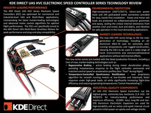 KDE-UAS35HVC 35A+HV Electronic Speed Controller (ESC) for Electric Multi-Rotor (UAS) Series