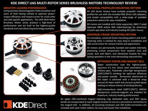 KDE4213XF-360 Brushless Motor for Heavy-Lift Electric Multi-Rotor (sUAS) Series