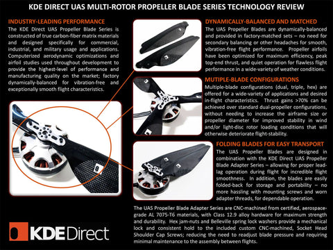 KDE-DPAHL-ML Heavy-Lift Propeller Blade Adapter (ML), Dual-Edition for Multi-Rotor (UAS) Series