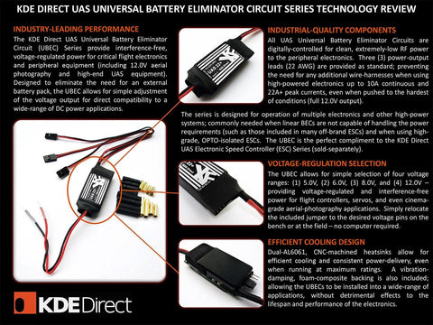 KDEXF-UBEC22 22A Battery Eliminator Circuit (UBEC) for Multi- and Single-Rotor (UAS) Series