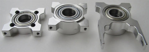 OV90N-MBB Thrusted Metal Bearing Blocks for Outrage Velocity 90 Nitro Series Helicopters