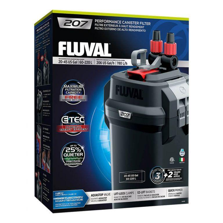 Fluval 207 Performance External Filters Complete With Media