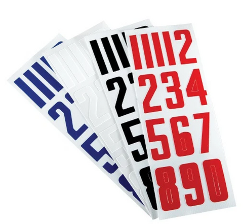 Bauer Helmet Number Decals Stickers