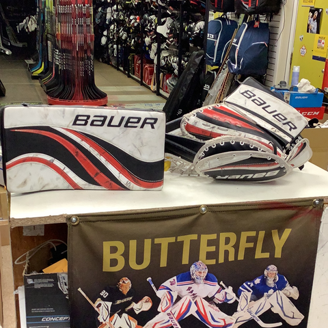 Used Bauer Reflex RX Full Right Catcher Blocker Set Junior