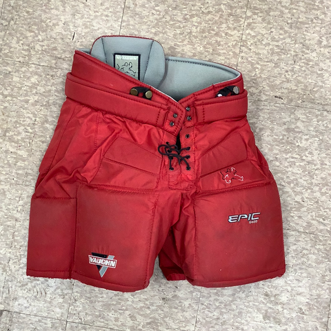 Used Vaughn Epic 8400 Intermediate Large Goal Pants Red
