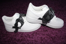 Load image into Gallery viewer, Bandanna Bow Custom Air Force 1's (Sitched down)
