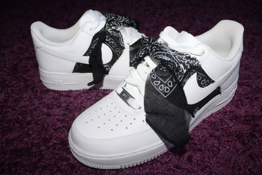 Bandanna Bow Custom Air Force 1's (Sitched down)