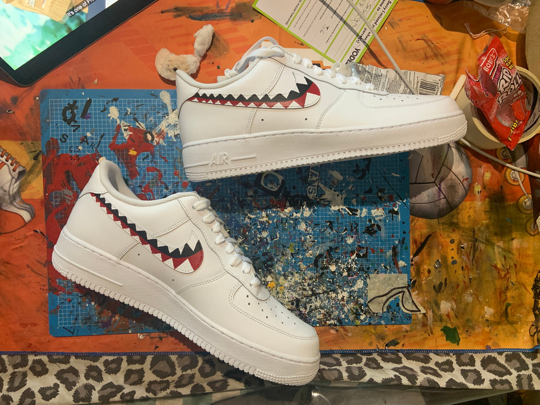 Bape Teeth Custom Air Force 1's