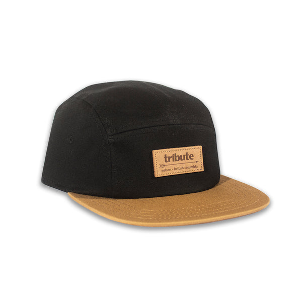 Tribute 5-Panel Hat - Black/Tan
