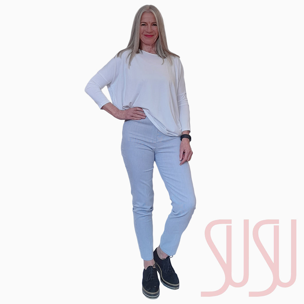 Fine Stripe Slim Leg Trousers