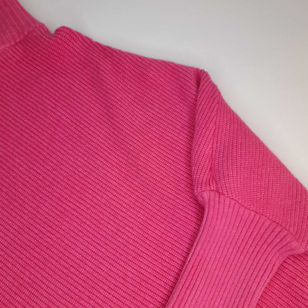 V-Hem Funnel Neck Jumper