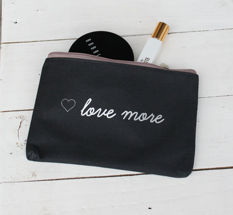 love more cosmetic bag