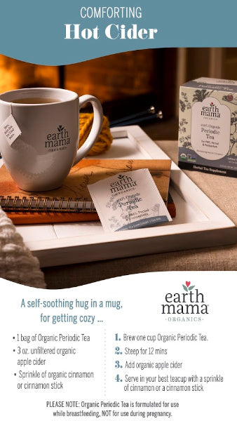 Tea Time with Earth Mama - Comforting Hot Cider with Organic Periodic Tea