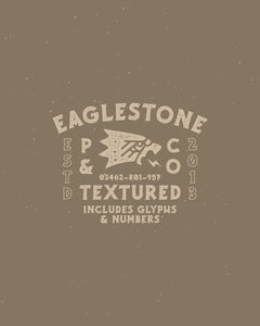 Eaglestone Textured Typeface