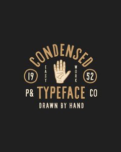 Condensed Hand Typeface