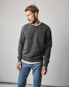 Crewneck Sweater - Acid Wash Grey