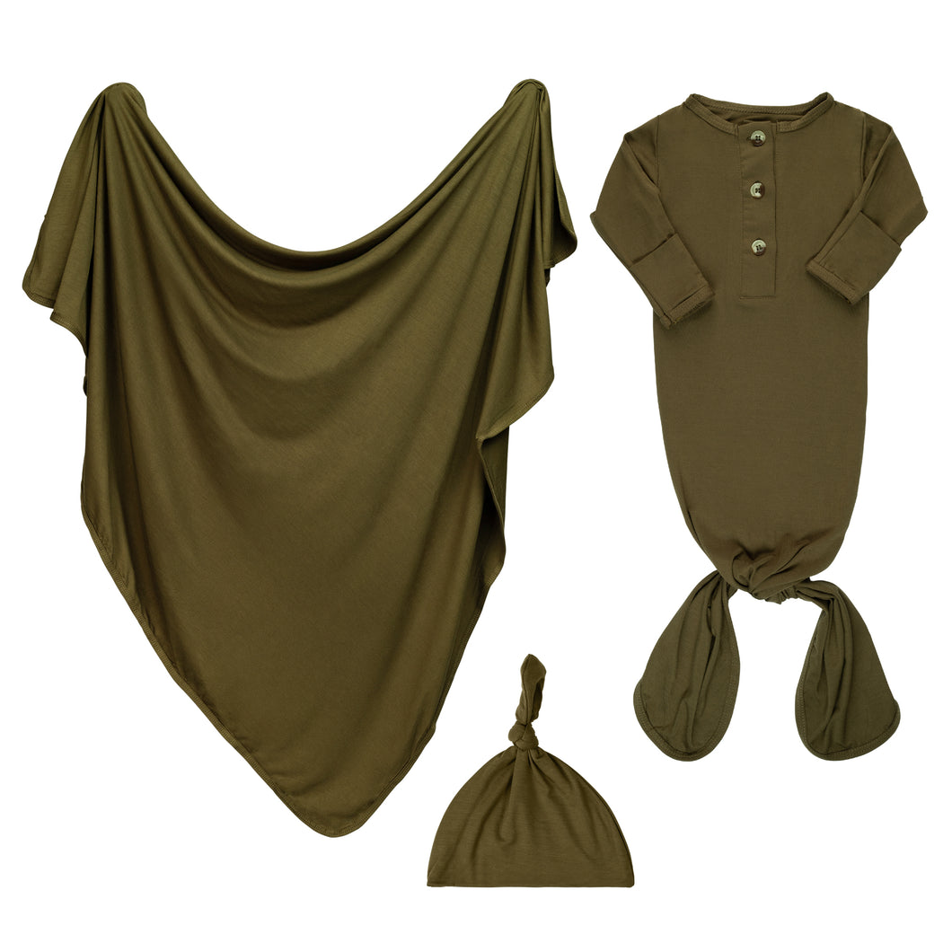 Newborn Swaddle Bundle - Olive