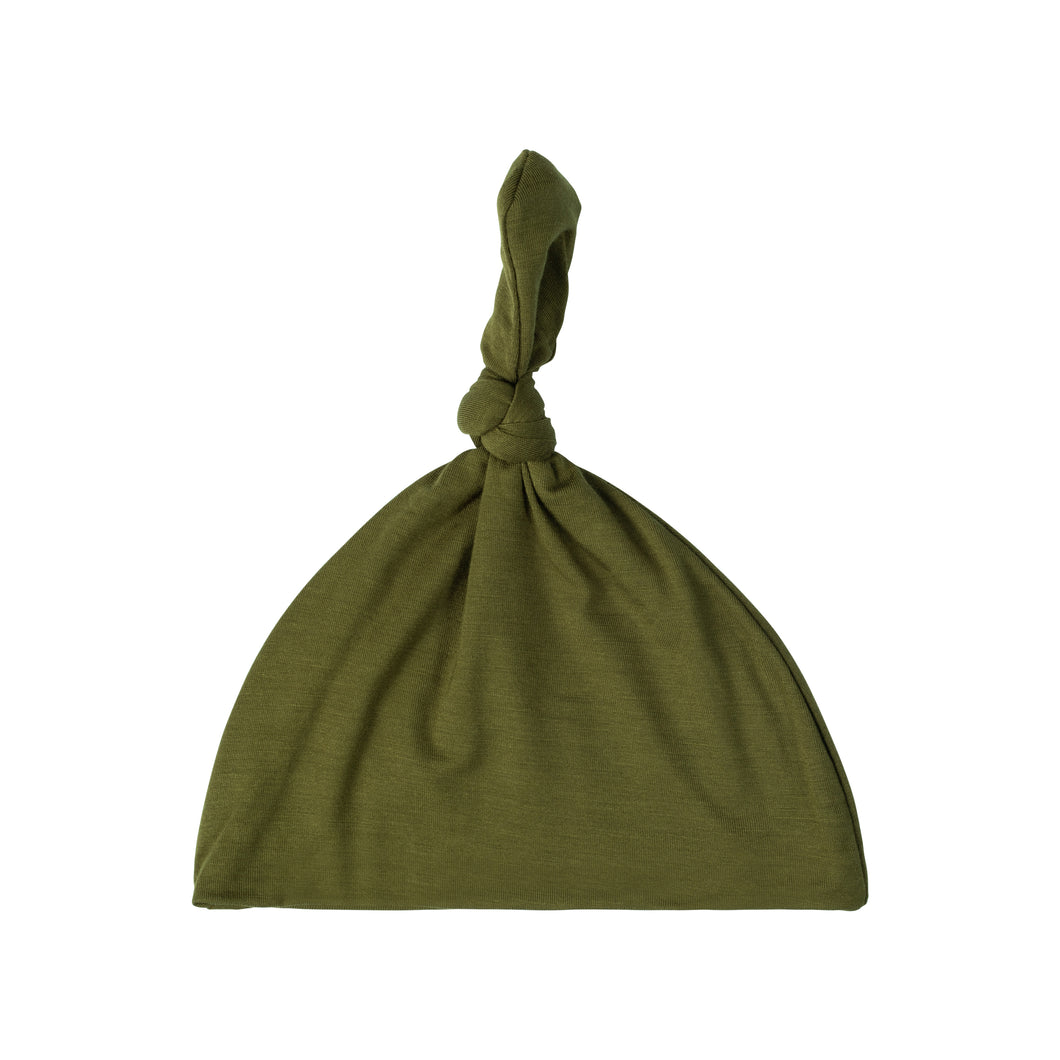 Knotted Hat - Olive