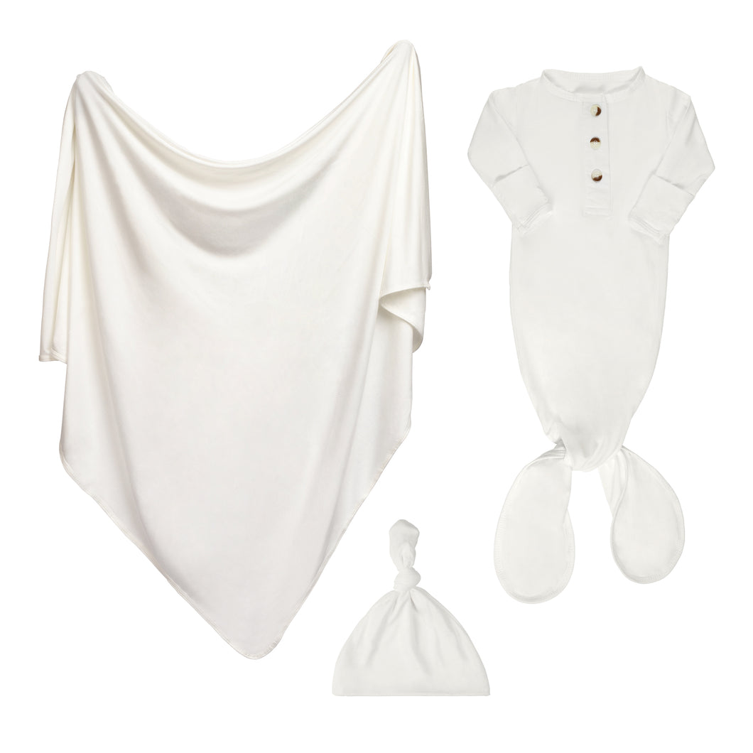 Newborn Swaddle Bundle - White