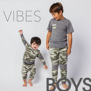 Boys toddler and kids clothes fashion green camo matching sibling clothes